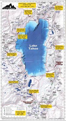 Kilian Jornet Tahoe Rim Trail map miles