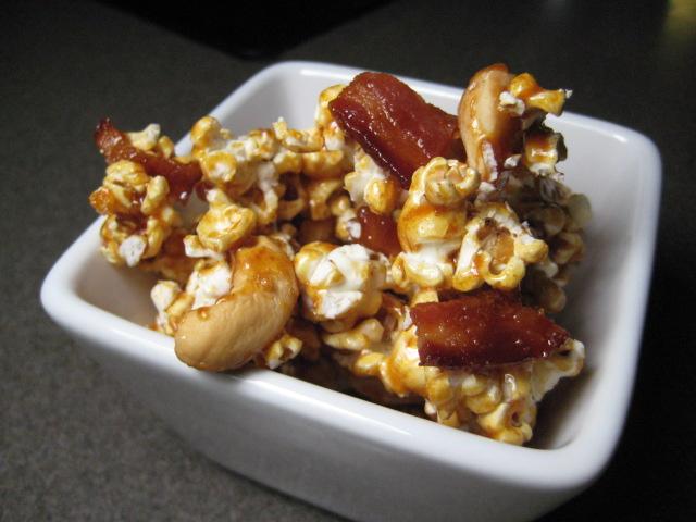 The Greasy Skillet: Bacon & Cashew Caramel Popcorn
