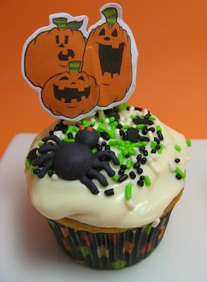 Proceed With Caution Halloween Pumpkin Cupcakes