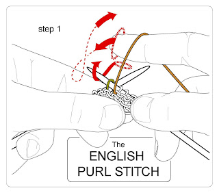 english purl step 1
