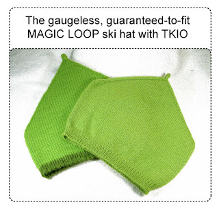 2 magic loop ski hats