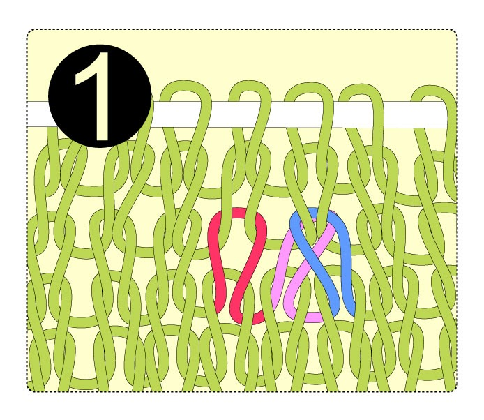 How To Decrease Stitches In Circular Knitting : TECHknitting: Correcting errors in the rows below, part 1: moving a decrease