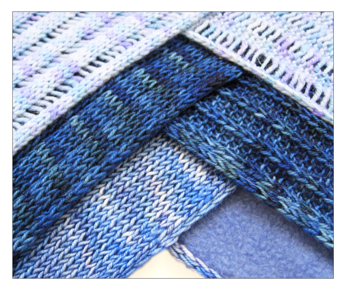 TECHknitting: Curling scarf rescue mission--part four: lining the scarf