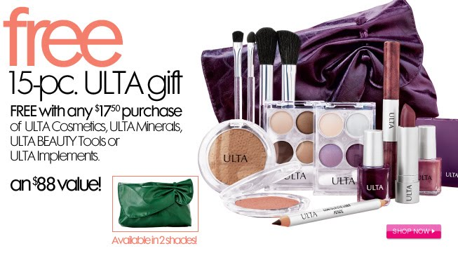 Beauty Babble: FREE 15-piece gift at ULTA this week!