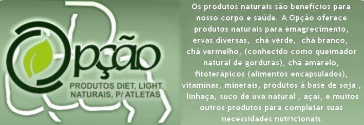 Opção Produtos Naturais e para Atletas