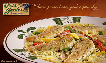 The Centsible Couponer Olive Garden 5 Off 2 Entrees