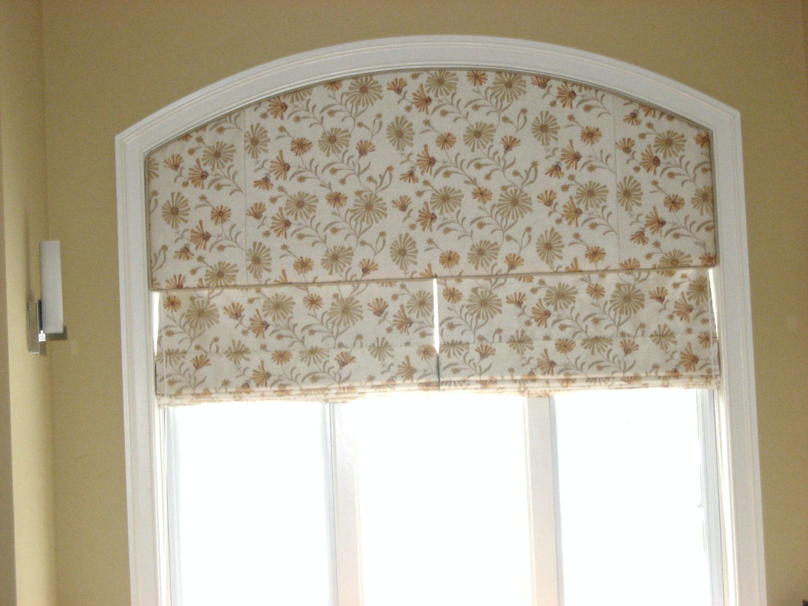 Arch Window Coverings Of The Arched Windows