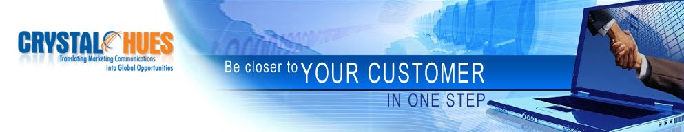 Crystal Hues Limited - Advertising Services, Translation Services, Localization Services