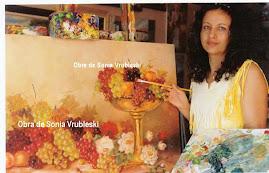 Sonia pintando um lindo quadro