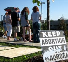 Prayer Vigil outside Planned Parenthood's planned Aurora Abortion Clinic
