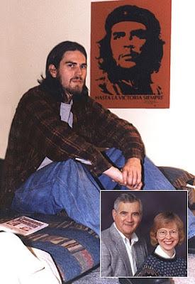 Marxista radical Matías Gastaldi cuyos padres (en foto insertada) son miembros de la elite burguesa