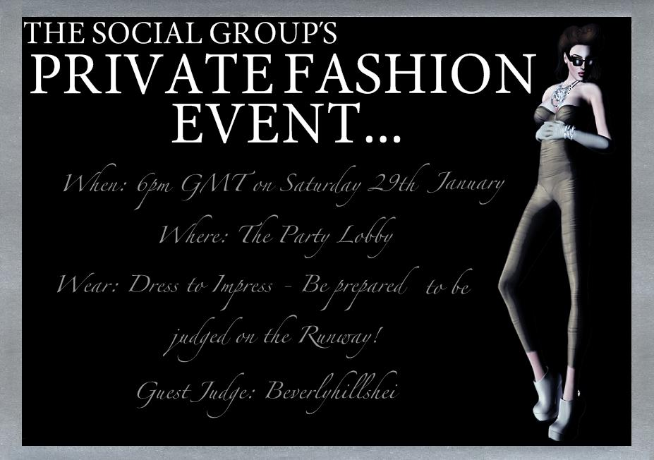 The Social Group Private Fashion Event Invitation News