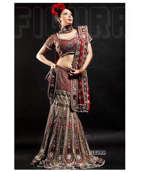 Wedding Lancha Images: Lucky Fashion Accessories: INDIAN TRADIONAL BRIDAL OUTFITS
