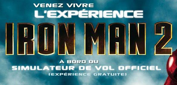 iron man 2 le simulateur de vol en tourn e en france comic screen l 39 actualit des super. Black Bedroom Furniture Sets. Home Design Ideas
