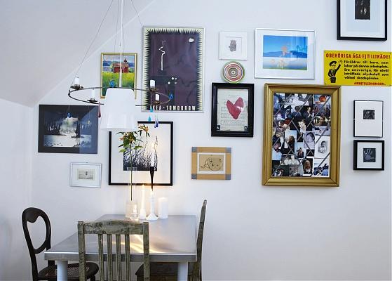 un mur de tableaux anna g. Black Bedroom Furniture Sets. Home Design Ideas
