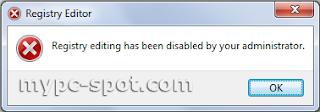 Error yang muncul ketika menggunakan registration entries