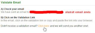 Email verifikasi telah terkirim
