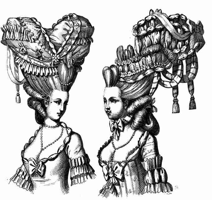 By the 18th century, the bigger the better was the mantra for hairstyles.