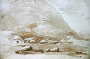Comunismo feudal Acuarelavillage1831