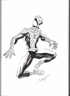 Spider-Man sketch by Mark Bagley