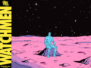Watchmen comic cover - The Manhattan on the Moon