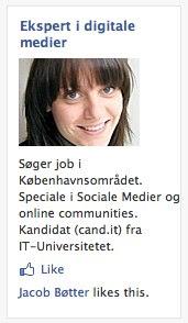Jobsøgning Facebook