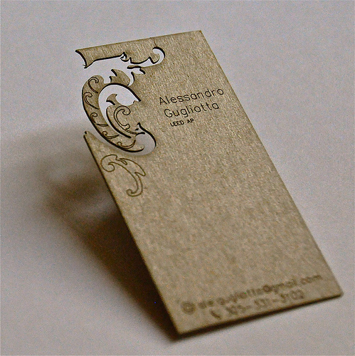 Cool Laser Cut Business Card Designs