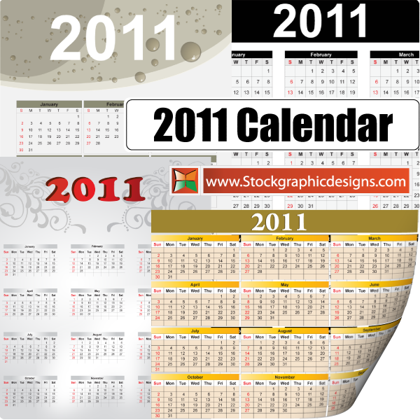 If you are looking for 2011 calendar template that is available;