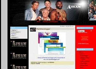 Descargar plantilla A-Team gratis para blogger
