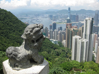 View from Hong Kong Peak, with lion