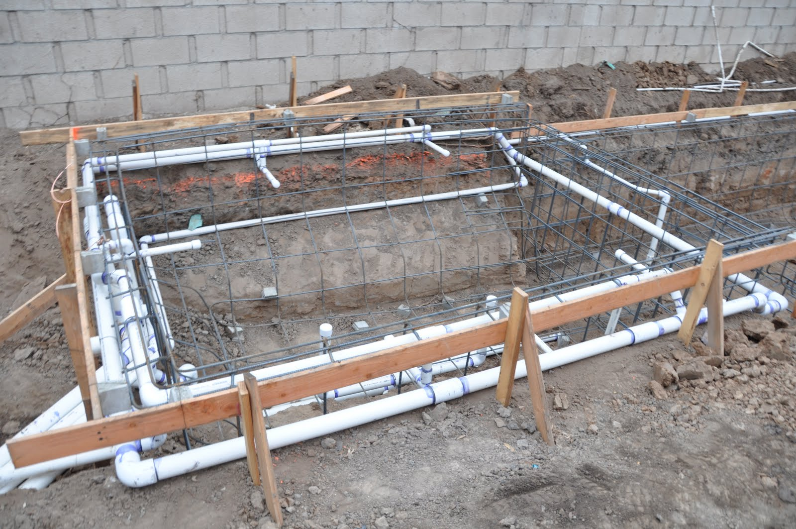 Inground Pool Plumbing Installation : Putting in an inground pool plumbing