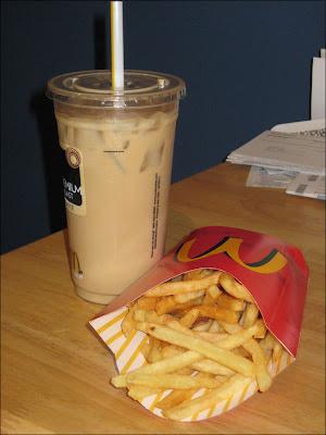 mcdonalds iced vanilla coffee