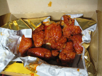 Taking Advantage Of Pizza Hut S 50 Cent Wing Wednesday Promotion I Tried Their Boneless Buffalo Wings Which As Far As I Can Tell Are Not Wings At All