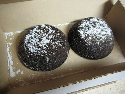 Domino's Chocolate Lava Crunch Cakes in box