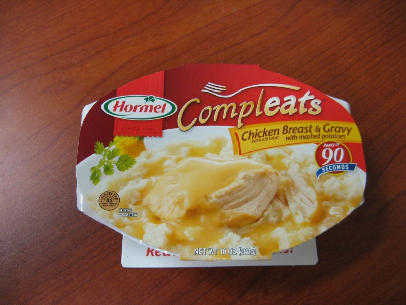 Okay Not Exactly Frozen But Vacuum Sealed Hormel S Compleats En T Gravy Is Basically Like Canned Food In Plastic So That You Can Stick
