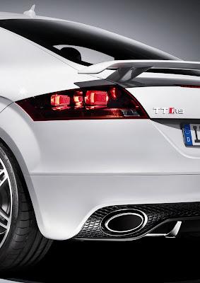 Audi TT white rear