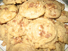 Heath Bits Peanut Butter Cookies