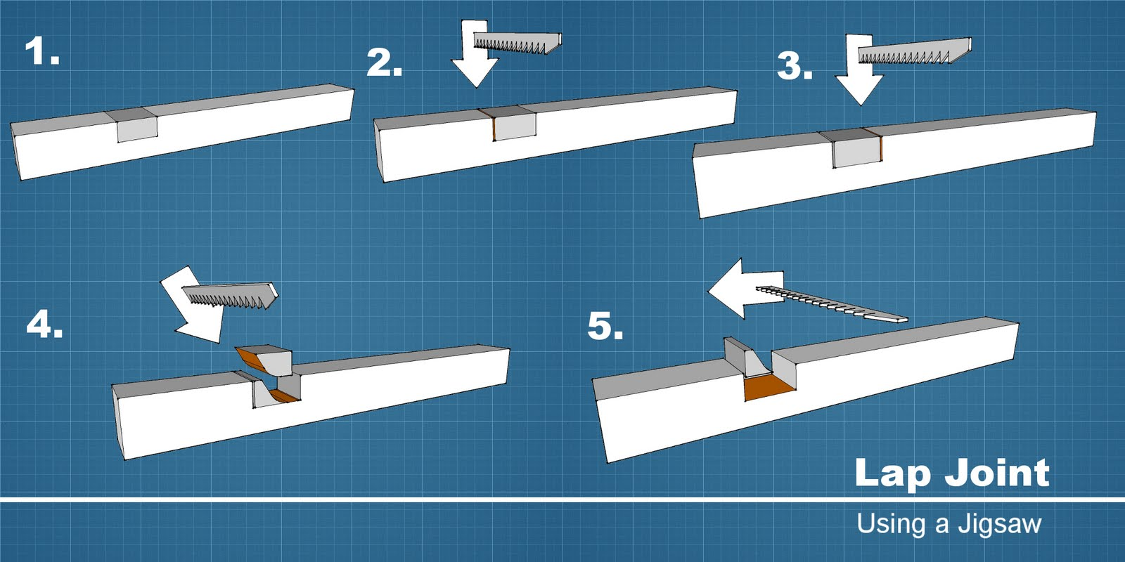 how to make a lap joint step by step