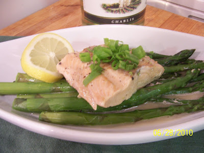 The Culinary Enthusiast: Salmon with Asparagus and Chive Butter Sauce