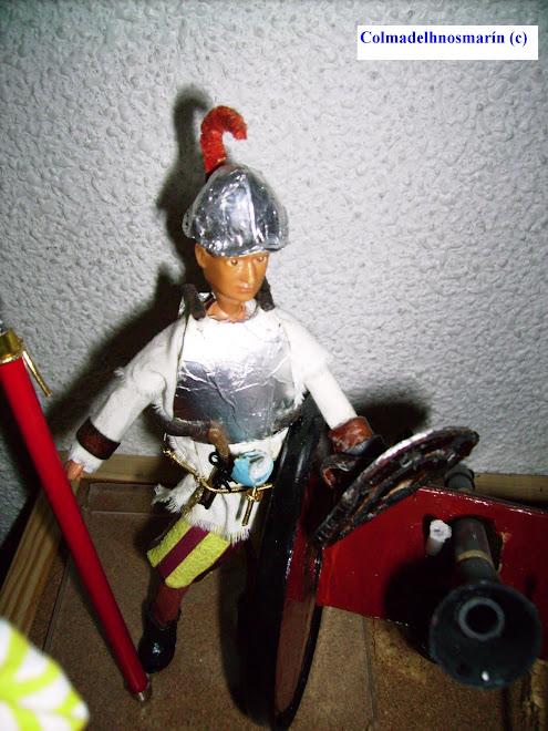 Conquistador Español con Cañón