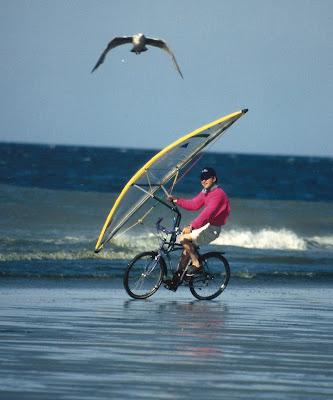 Pierre-Yves Gires et son Vélo à Voile Windbike - Club Les Albatros