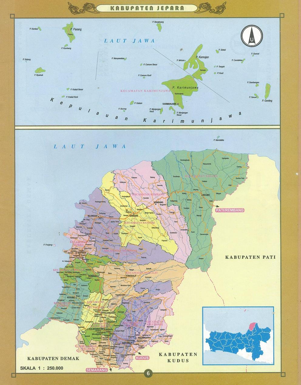 Peta Kabupaten Jepara