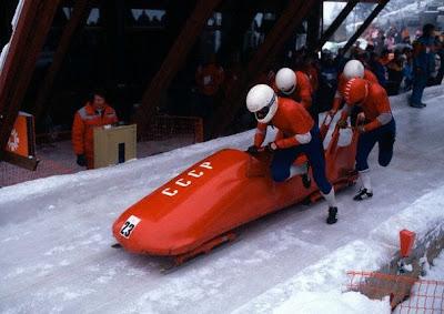 Equipo de bobsleigh de la URSS en los Juegos de Sarajevo 1984