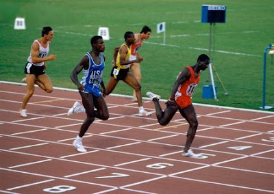 Ben Johnson & Carl Lewis - Roma 1987