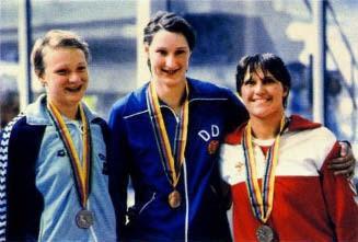 Svetlana Varganova, Ute Geweniger y Susanne Nielsson, Moscú 1980