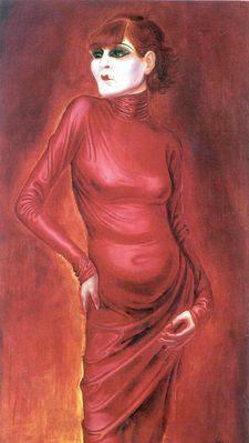 Anita Berber, retrato de Otto Dix