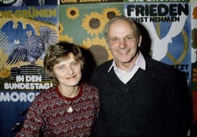 Petra Kelly y Gert Bastian