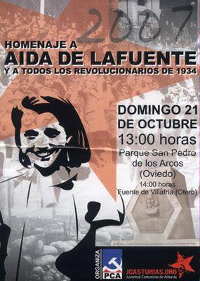 Homenaje a Aida de la Fuente 2007