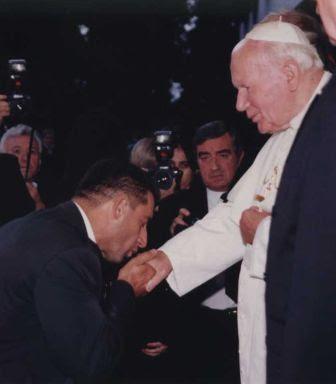 Juan Pablo II y Ante Gotovina