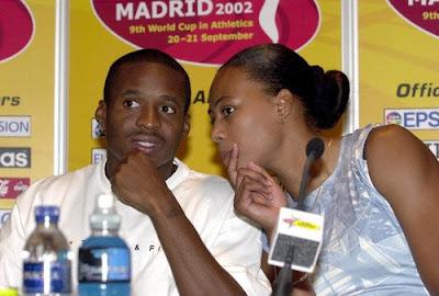 Tim Montgomery y Marion Jones - Madrid 2002